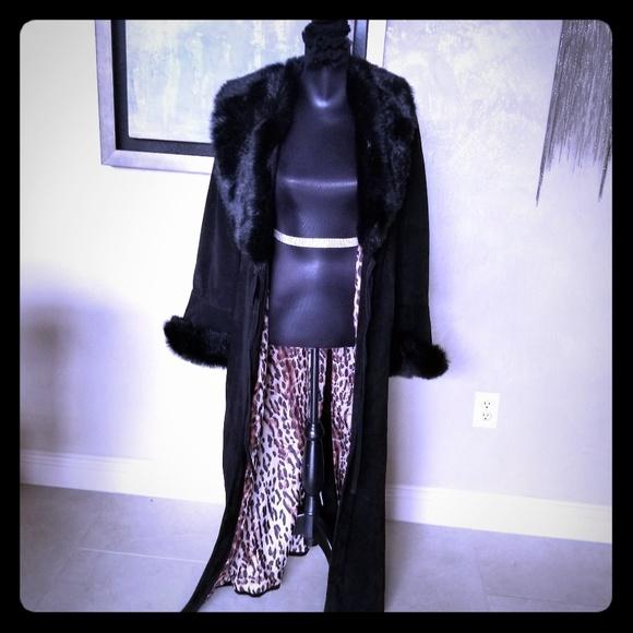 Victoria's Secret Jackets & Blazers - Victoria's Secret Suede Leather leopard coat M